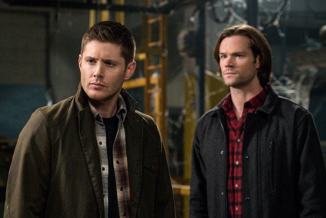 Müssen eine emotionale Entscheidung treffen, die zwar das Böse besiegen, aber Castiel in Lebensgefahr bringen könnte: Dean (Jensen Ackles, l.) und S... - Bildquelle: 2014 Warner Brothers