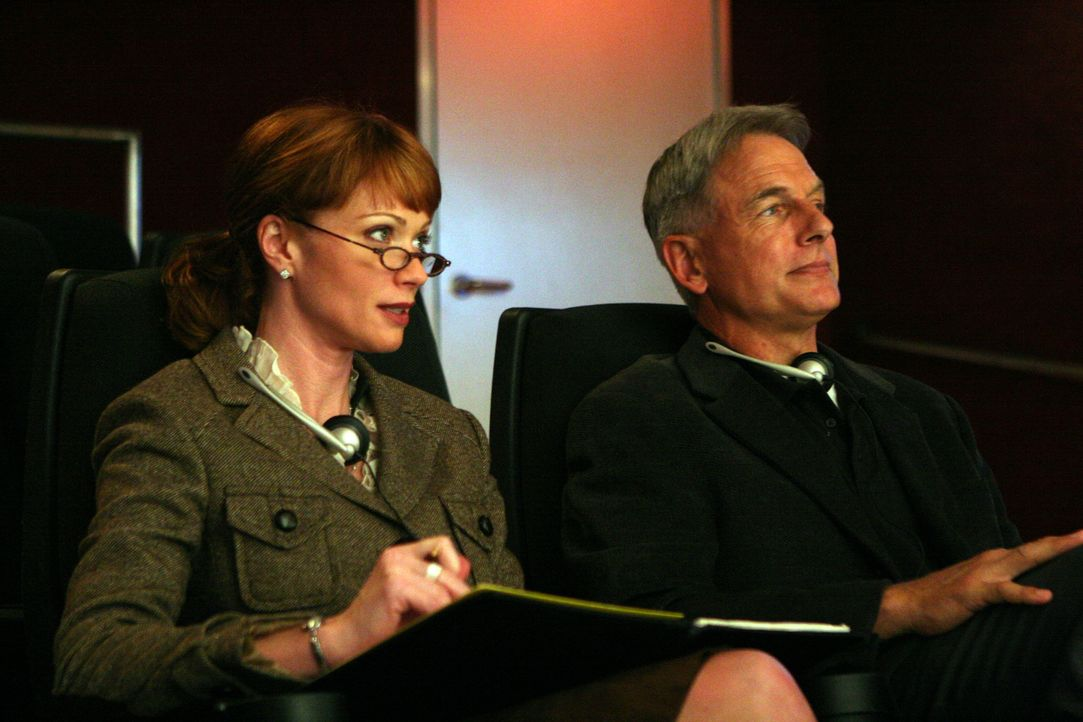 Shepard (Lauren Holly, l.) und Gibbs (Mark Harmon, r.) beobachten Tony bei einem Verhör ... - Bildquelle: TM &   2006 CBS Studios Inc. All Rights Reserved.