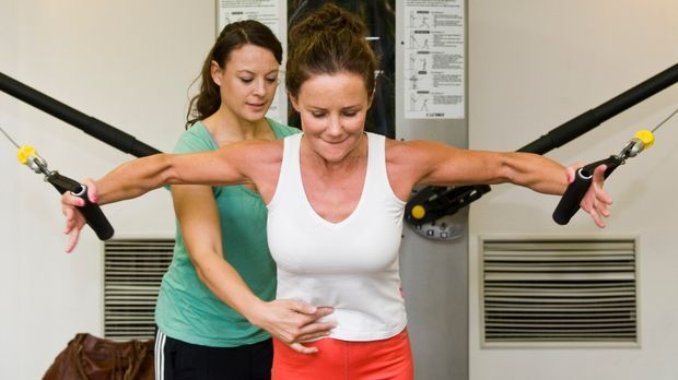 Als Fitnesstrainerin mit Trainerschein helfen Sie Kunden im Fitnessstudio zum...