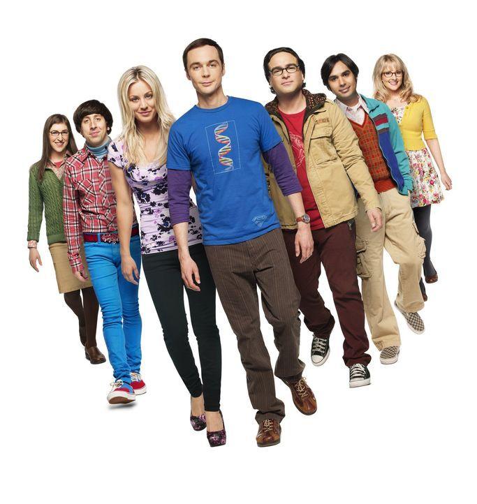 (7. Staffel) - Eine ganz besondere Clique: Bernadette (Melissa Rauch, l.), Howard (Simon Helberg, 2.v.l.), Amy (Mayim Bialik, r.), Sheldon (Jim Pars... - Bildquelle: Warner Bros. Television