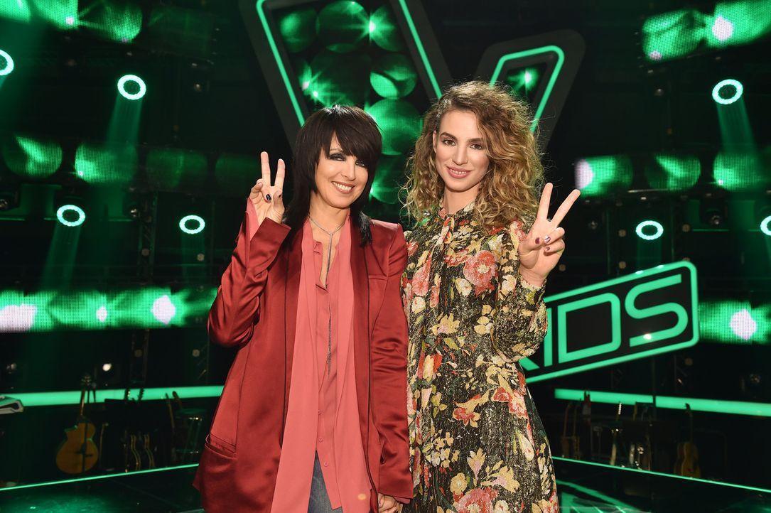 """""""The Voice Kids"""" geht in die nächste Runde und sie sind neu mit dabei: Nena (l.) und Larissa (r.) ... - Bildquelle: Andre Kowalski SAT.1"""