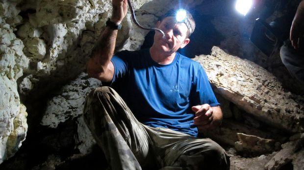 Im Höhlensystem auf der Yucatan-Halbinsel Mexikos entdeckt Steve Backshall ei...