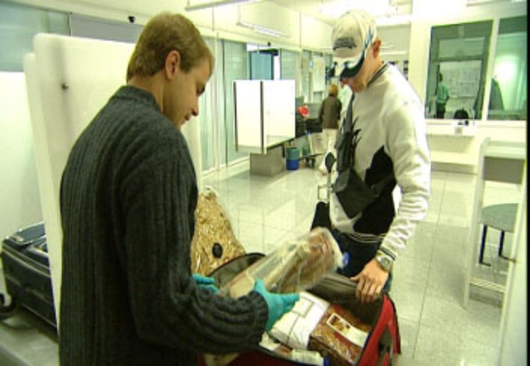 Die ganze Palette an Ausreden und alle möglichen Versuche von Passagieren, illegal Ware nach Deutschland zu schmuggeln - damit beschäftigen sich d... - Bildquelle: Sat.1