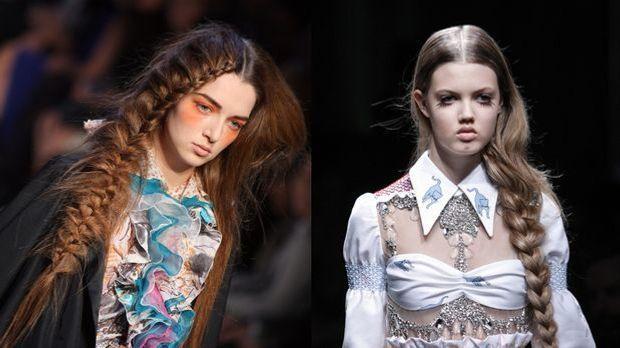 Flechtfrisuren: Romantik-Look für lange Haare