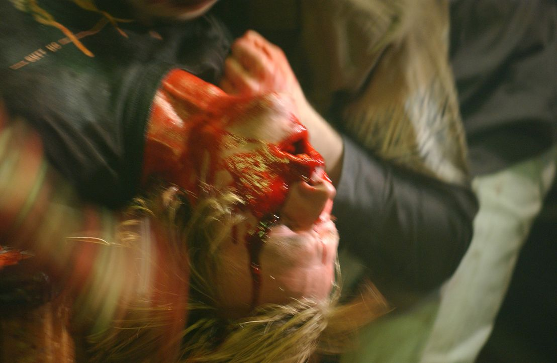 Opfert ihr Leben, damit ihre Kollegen Ellis und Alex an eine DNA-Probe der blutrünstigen Zombies gelangen können: Alison (Victoria Pratt) ... - Bildquelle: Sony Pictures Television International. All Rights Reserved.