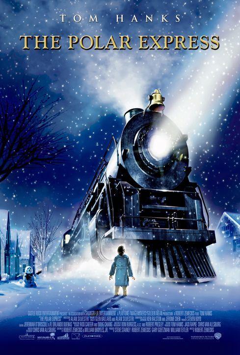 Durch die weiße, verschneite Winterlandschaft schnauft eine große Dampflok heran und stoppt direkt vor dem Haus eines kleinen Jungen ... - Bildquelle: Warner Bros. Pictures
