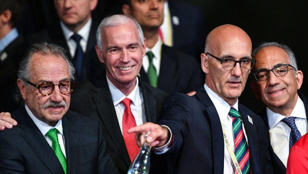 Serrano (l), Reed (m) und Cordeiro vertraten ihre Länder - Bildquelle: AFPSIDMLADEN ANTONOV