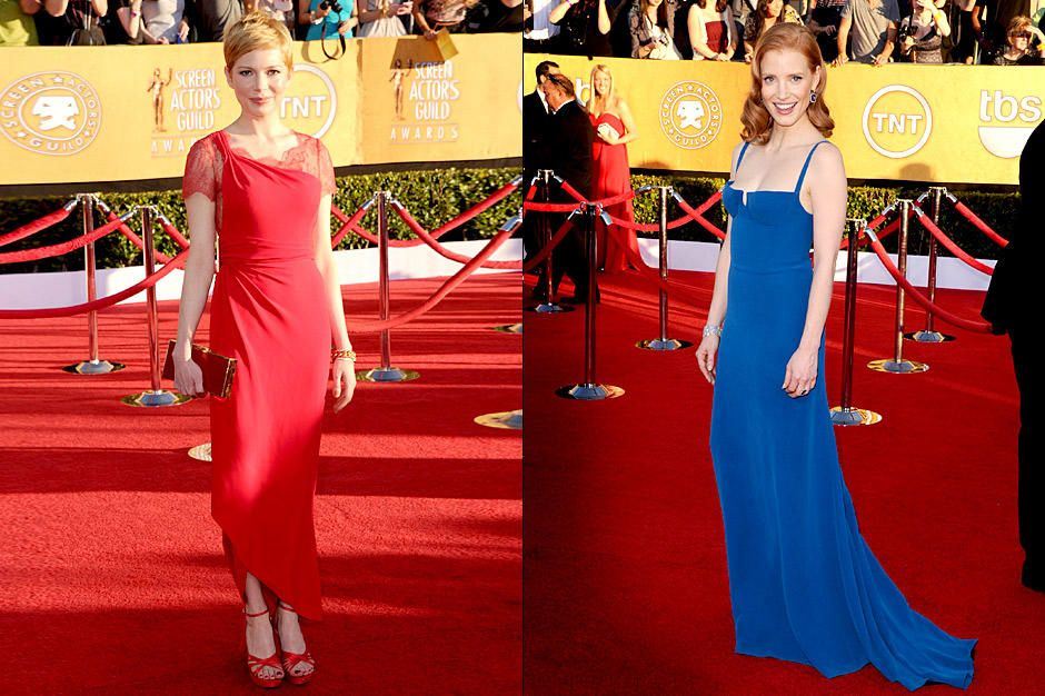 michelle-williams-jessica-chastain-12-01-29-sag-getty-afpjpg 940 x 626 - Bildquelle: getty-AFP