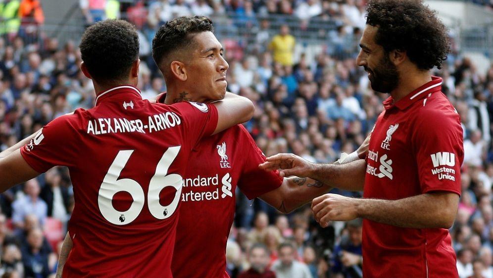 Roberto Firmino erzielt das 2:0 für die Reds - Bildquelle: AFPSIDAdrian DENNIS