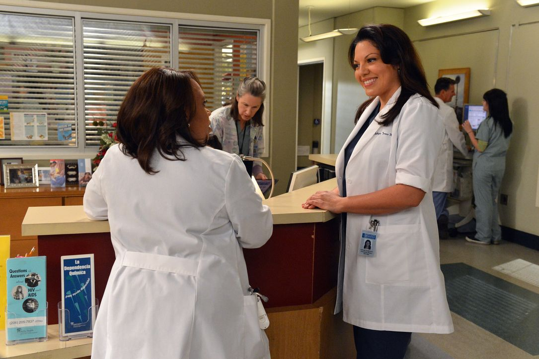 Dr. Callie Torres (Sara Ramirez, r.) überbringt Miranda (Chandra Wilson, l.) eine freudige Nachricht ... - Bildquelle: ABC Studios