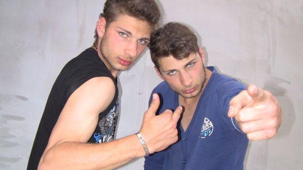 Frechheit im Doppelpack: Das italienisches Zwillingspaar Maurizio und Guisepp...