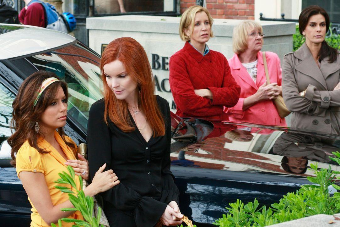 Bei einem gemeinsamen Road Trip denken Karen McCluskey (Kathryn Joosten, 2.v.r.), Bree (Marcia Cross, 2.v.l.), Gabrielle (Eva Longoris, l.) Lynette... - Bildquelle: ABC Studios