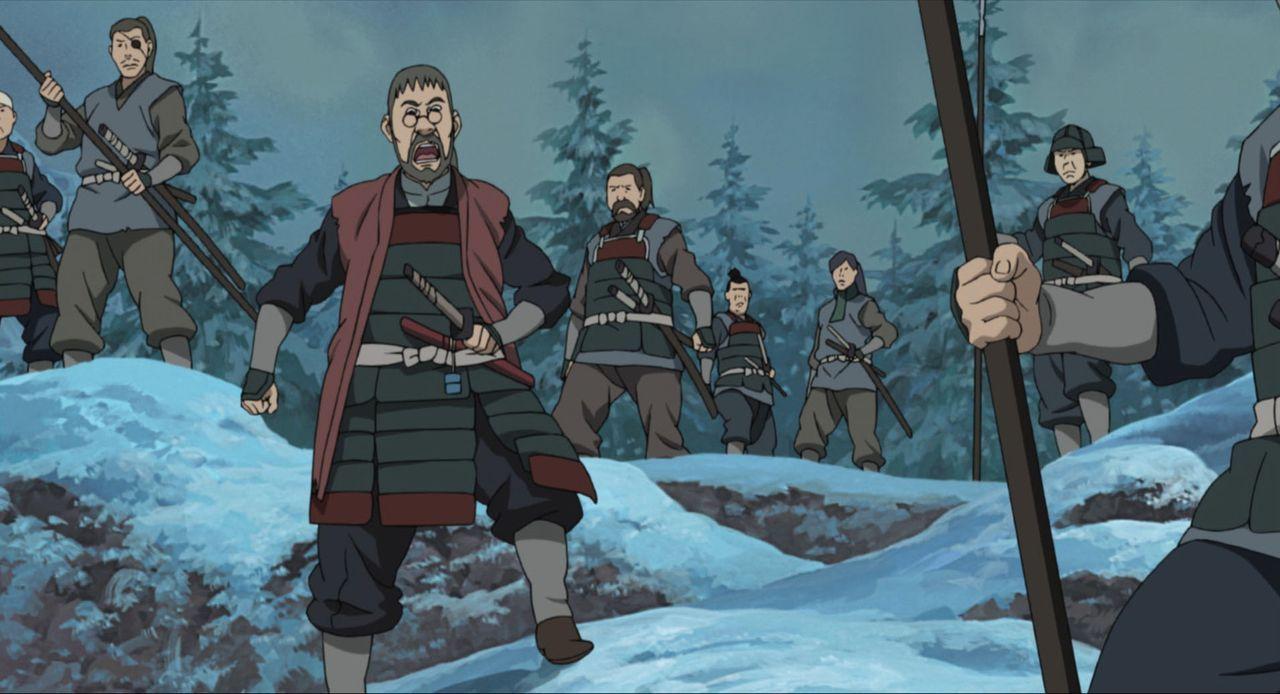 Yukie erweist sich als ziemlich eigenwillig und versucht, vom Drehort zu verschwinden. Dann tauchen drei mysteriöse Ninjas auf, die es offensichtlic... - Bildquelle: MASASHI KISHIMOTO  NMP 2004