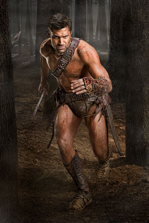 Alles, was Crixus ( Manu Bennett) noch interessiert, ist die Suche nach seiner verschollenen Liebe Naevia ... - Bildquelle: 2011 Starz Entertainment, LLC. All rights reserved.