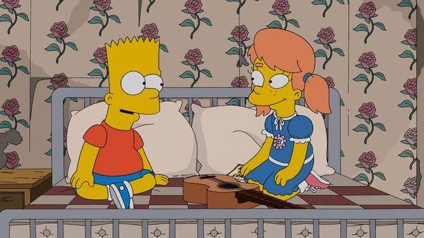 Als Mary Spuckler (r.) nach Springfield zurückkehrt, erwachen bei Bart (l.) w...