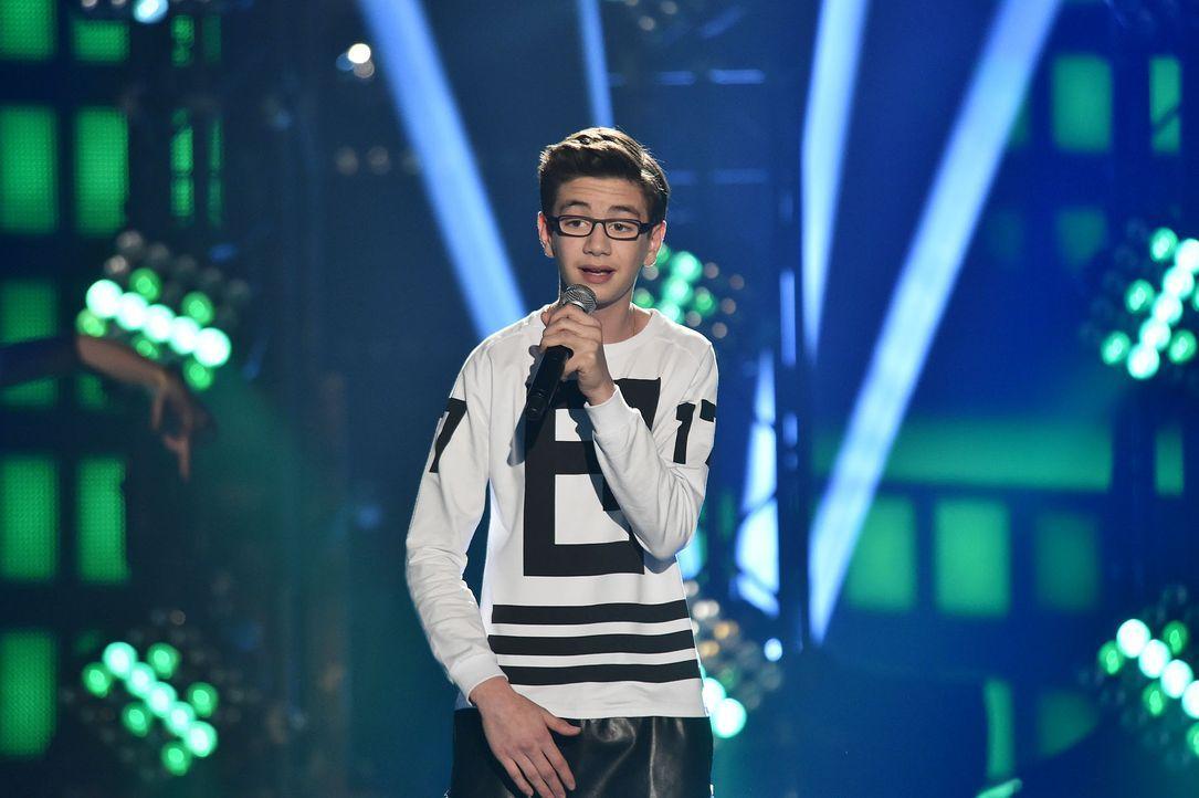 The-Voice-Kids-Stf03-Finale-Probe-58-Samuel-SAT1-Andre-Kowalski - Bildquelle: SAT.1/ Andre Kowalski