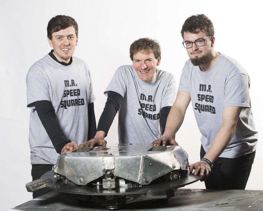 Das Team Mr. Speed Squared setzt alle Hoffnungen auf ihren selbst gebauten Roboter. Er soll die Konstruktionen der anderen Teams zerstören ... - Bildquelle: Alan Peebles