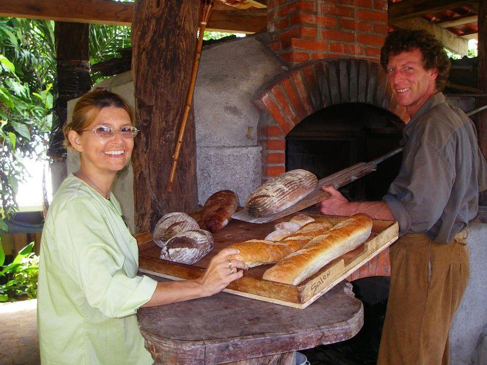 Tom Pferner und Ellen Baron leben seit elf Jahren in Costa Rica. Das Paar hat in ihrem Traumland vom ersten Tag an sehr hart arbeiten müssen und ein... - Bildquelle: kabel eins