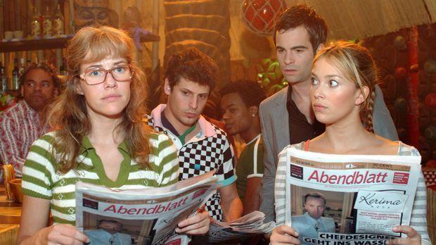 Lisa (Alexandra Neldel, l.), Rokko (Manuel Cortez, 2.v.l.), David (Mathis Kün...