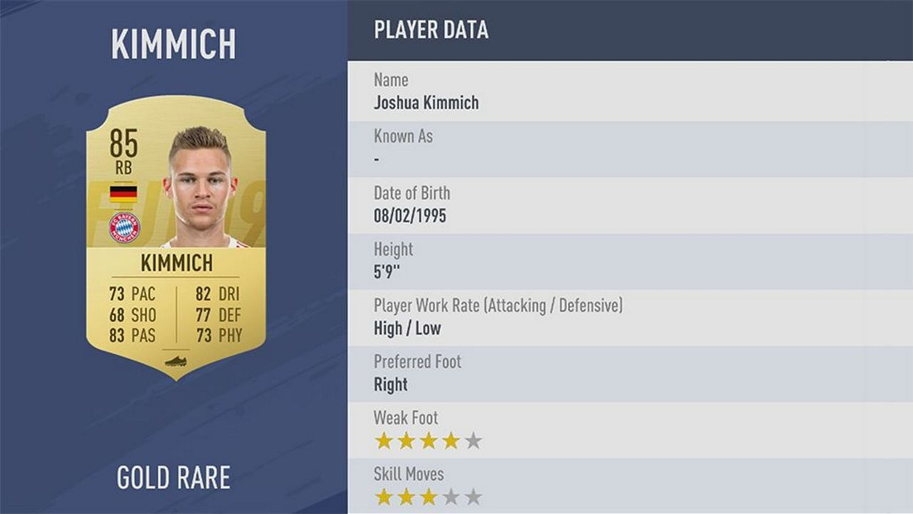 Joshua Kimmich - Rating: 85 - Bildquelle: EA Sports