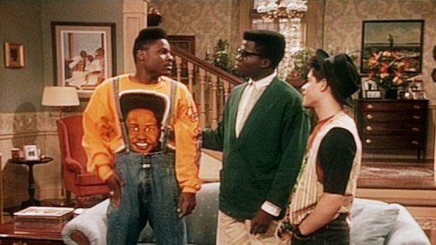 Theo (Malcolm-Jamal Warner, l.) und seine Freunde Lou (Alex Ruiz, r.) und How...