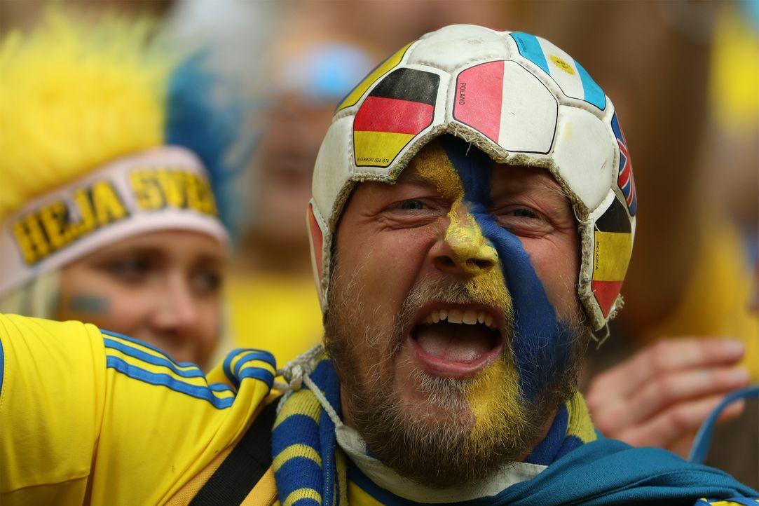 Sweden_fan_ball_hat_KENZO TRIBOUILLARD_AFP - Bildquelle: AFP / KENZO TRIBOUILLARD