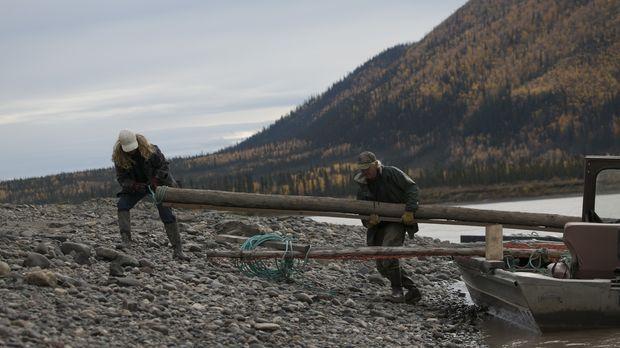 Mit dem Winter am Horizont, bereiten sich die Bewohner Alaskas auf harte Mona...