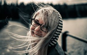 Studentin-lächelnd