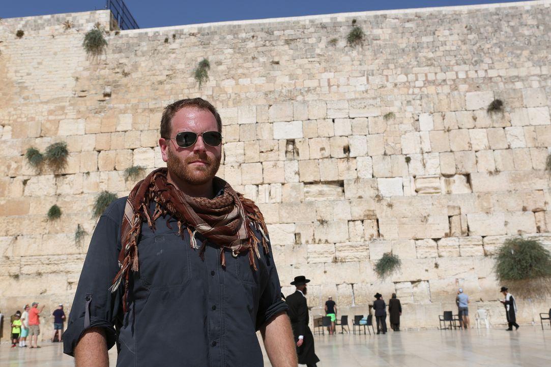 Archäologe Josh Gates begibt sich nach Jerusalem, um dort die verschwundenen Holzfragmente des Kreuzes Christi zu suchen. Doch dann entdeckt Josh pl... - Bildquelle: 2015,The Travel Channel, L.L.C. All Rights Reserved