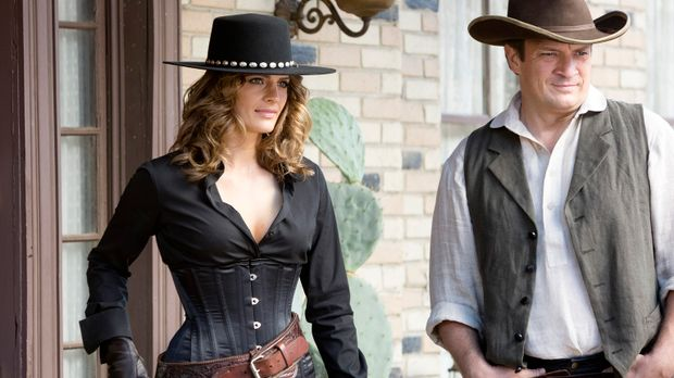 Ein neuer Fall führt Castle (Nathan Fillion, r.) und Beckett (Stana Katic, l....