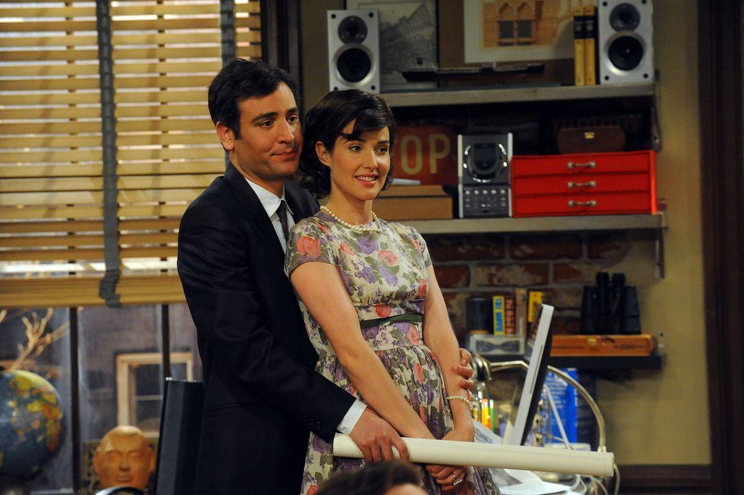Das Jahr 2009 in Teds Vorstellung: Ted (Josh Radnor, l.) und Robin (Cobie Smulders, r.) ... - Bildquelle: 20th Century Fox International Television