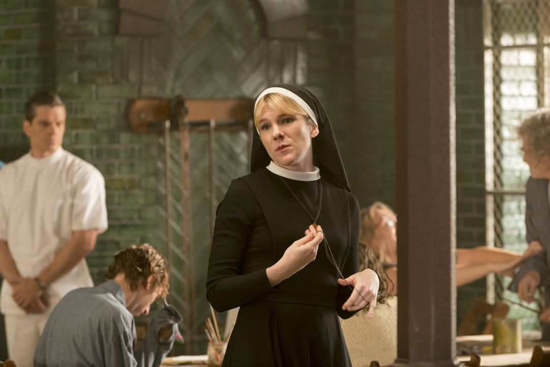 Was führt die diabolische Schwester Mary Eunice McKee (Lily Rabe) nun wieder im Schilde? - Bildquelle: 2012-2013 Twentieth Century Fox Film Corporation. All rights reserved.