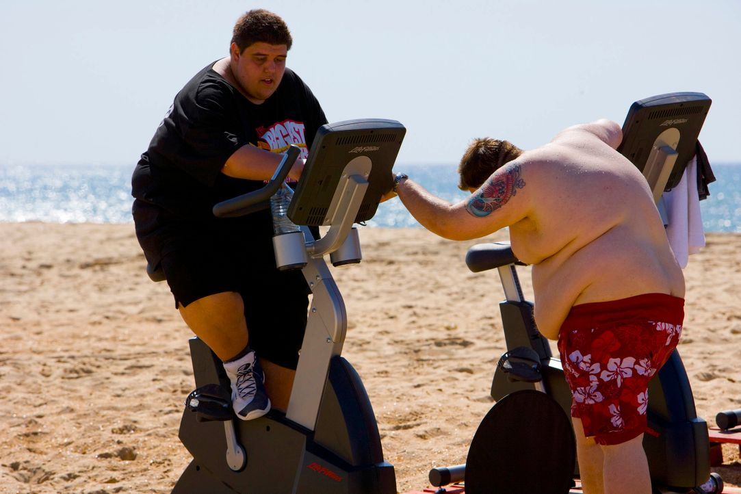 The-Biggest-Loser-Mini-Triathlon-Folge1-0004 - Bildquelle: SAT.1/Enrique Cano