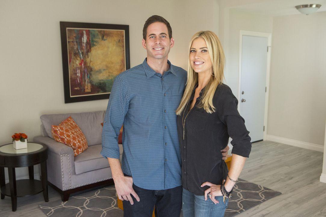 In La Habra wollen Tarek (l.) und Christina (r.) das nächste Haus kaufen, um es dann zu renovieren und gewinnbringend zu verkaufen ... - Bildquelle: Gilles Mingasson 2014,HGTV/Scripps Networks, LLC. All Rights Reserved