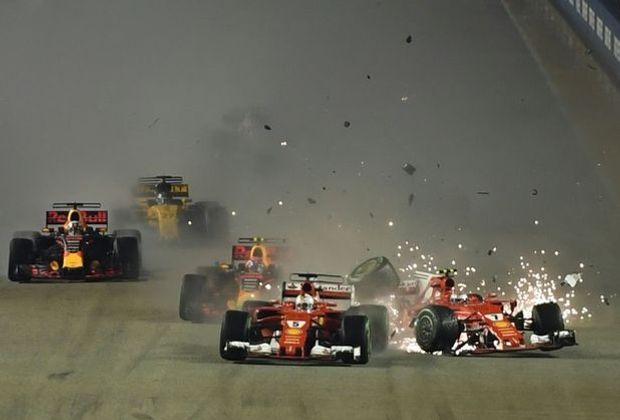 Zusammenstoß zwischen Vettel und Räikkönen