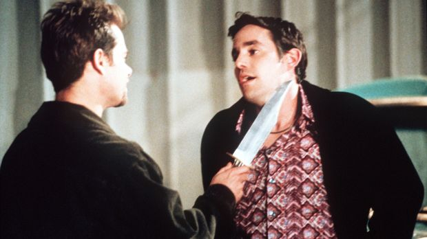 Xander (Nicholas Brendon, r.) ist in Schwierigkeiten, denn Jack O'Toole (Chan...