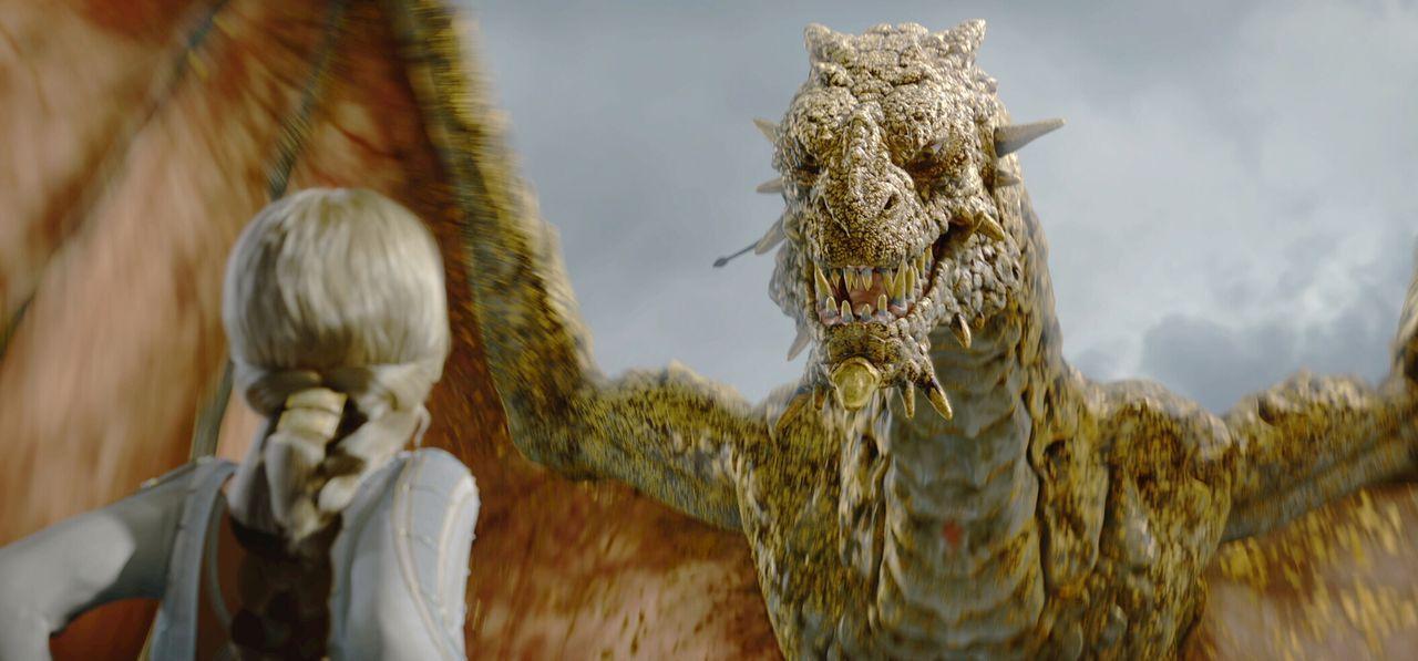 Ein schrecklicher Drache macht Beowulf und seinen Untertanen das Leben zur Hölle ... - Bildquelle: 2007 Warner Brothers International Television Distribution Inc.