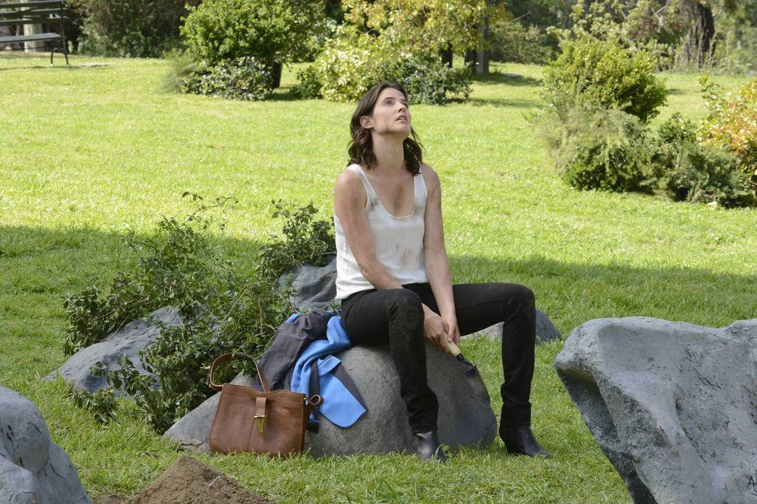 Robin (Cobie Smulders) sucht im Central Park nach einem Medaillon, das sie als junges Mädchen dort heimlich vergraben hatte. Sie schwor sich damals,... - Bildquelle: 2013 Twentieth Century Fox Film Corporation. All rights reserved.