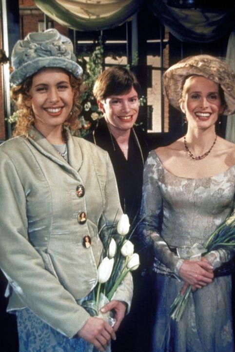 Ross kann es nicht fassen, dass seine Exfrau (Jane Sibbett, r.) ihre Freundin Susan (Jessica Hecht, l.) geheiratet hat. - Bildquelle: TM+  2000 WARNER BROS.