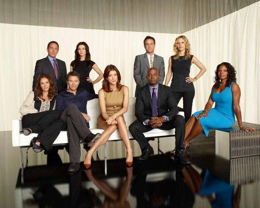 (4. Staffel) - Ein ständiges Auf und Ab beherrscht ihr Leben: (hinten v.l.n.r.) Sheldon (Brian Benben), Amelia (Caterina Scorsone), Cooper (Paul Ad... - Bildquelle: ABC Studios