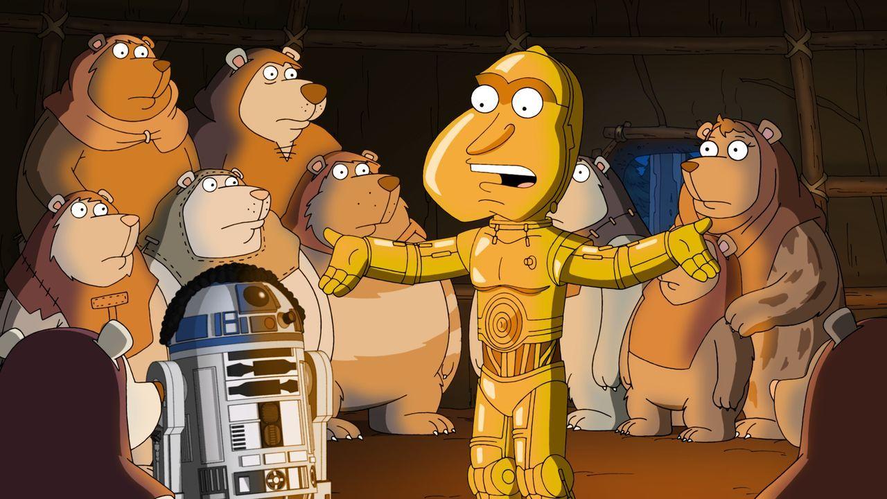 In Peters Geschichte müssen R2-D2 (Cleveland, vorne 2.v.l.) und C-3PO (Quagmire, vorne r.) Han Solo befreien ... - Bildquelle: 2011 Twentieth Century Fox Film Corporation. All rights reserved.