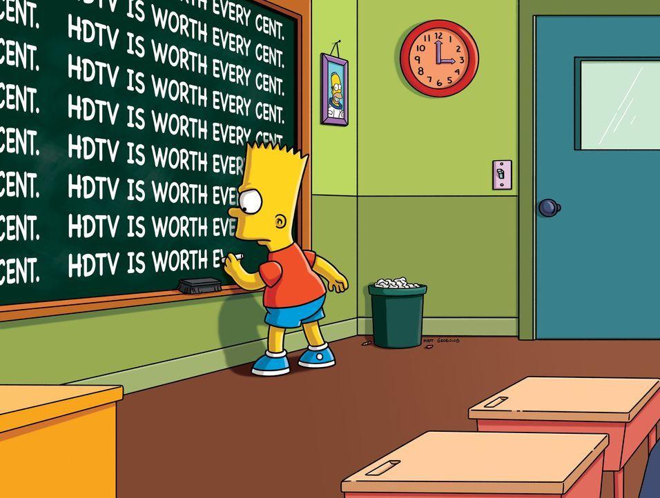 Mal wieder muss Bart eine Strafaufgabe machen ... - Bildquelle: und TM Twentieth Century Fox Film Corporation - Alle Rechte vorbehalten