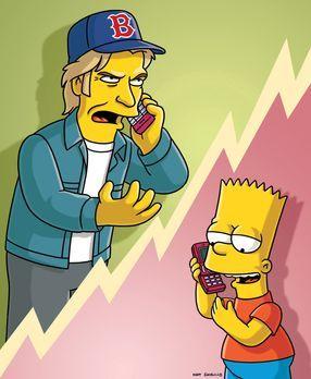 Die Simpsons - Während Bart (r.) versucht, im Country-Club Geld zu verdienen,...