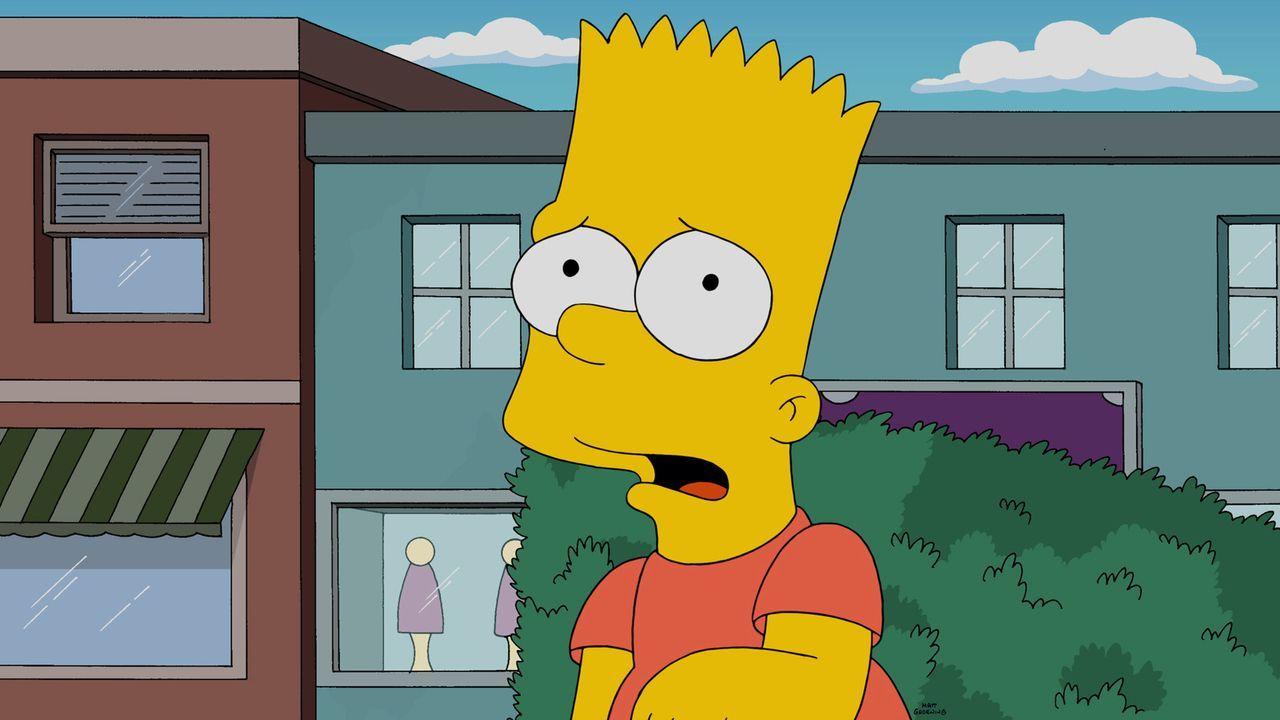 Während Bart (Bild) den Mitbürgern von Sprinfield mal wieder einen Streich spielen möchte, ist Lisa von ihrer Mutter Marge enttäuscht ... - Bildquelle: 2015 Fox and its related entities.  All rights reserved.