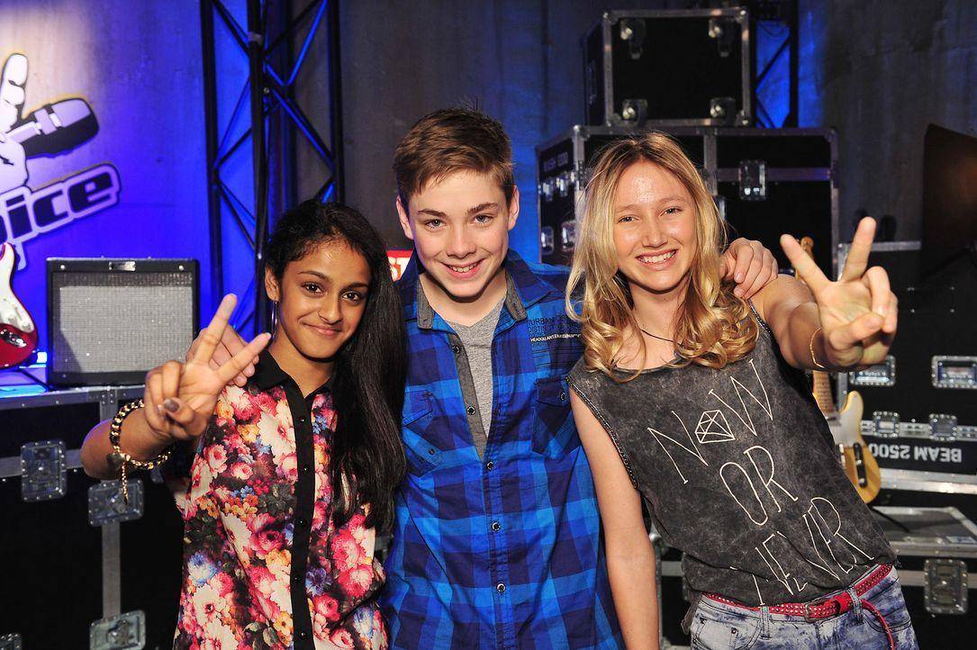 The-Voice-Kids-Stf02-Epi07-Sabeschni-Hannah-Samuel-2-SAT1-Andre-Kowalski - Bildquelle: SAT.1/Andre Kowalski