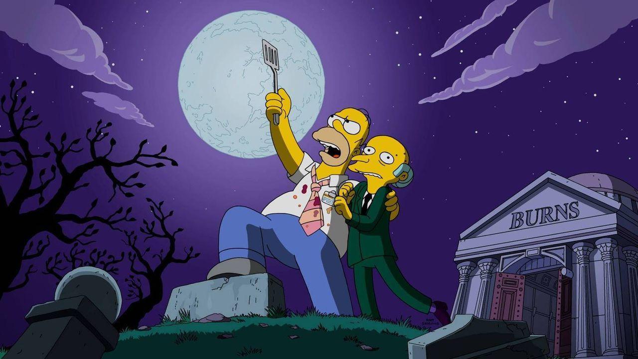 Gemeinsam sühnen Mr. Bruns (r.) und Homer (l.) nach Rache und schwören, dass sie einem mysteriösen Musikmogul den Gar ausmachen werden ... - Bildquelle: 2016-2017 Fox and its related entities. All rights reserved.