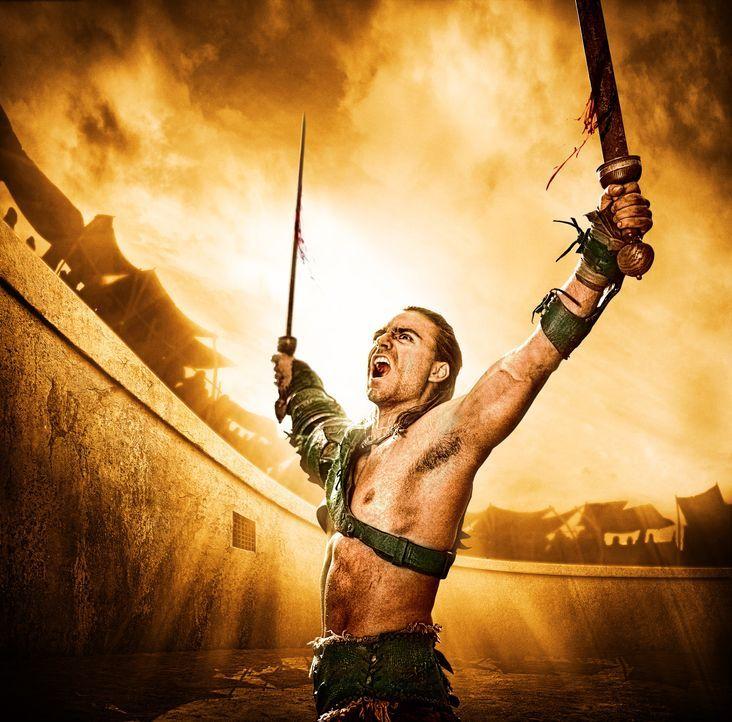 Lasset die Spiele beginnen: Champion der Gladiatorenschule, Gannicus (Dustin Clare) ... - Bildquelle: 2010 Starz Entertainment, LLC