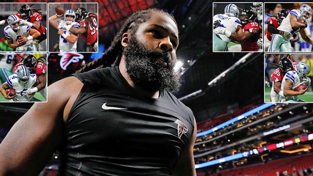 Sechs Sacks gegen Dallas-Quarterback Prescott bedeuten Zahltag für Falcons-S... - Bildquelle: 2017 Getty Images