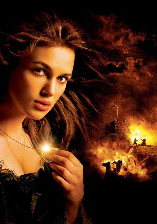 Um den Fluch brechen zu können, brauchen Barbossa und seine Mannen das Blut einer schönen Maid. Deshalb entführen sie die bildschöne Tochter des... - Bildquelle: Disney/ Jerry Bruckheimer