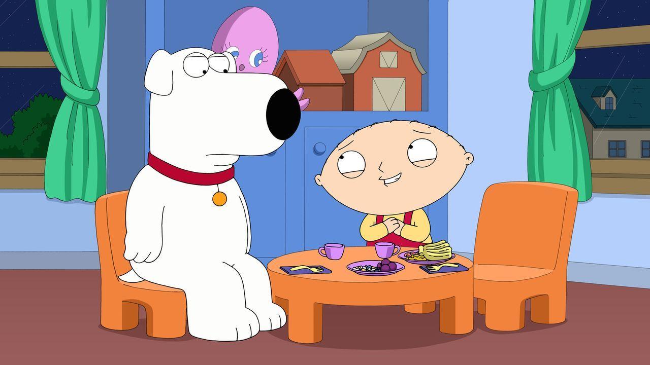Das Dinner mit Brian (l.) verläuft anders, als es sich Stewie (r.) vorgestellt hat. Wie soll er jetzt ein Kind mit ihm bekommen? - Bildquelle: 2015-2016 Fox and its related entities. All rights reserved.